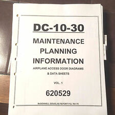 Douglas Dc-10-30 Access Door Diagrams & Data Maintenance Planning Manual