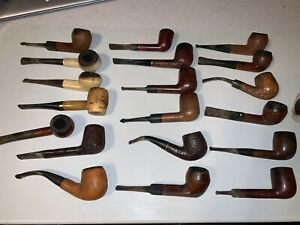Large Estate Pipe Lot (20) - All Need Cleaning - 3 Stands Included
