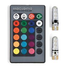 T10 W5W 5050 12SMD RGB bunte Licht Auto Wedge Side Bulbs Fernbedienung #NP5