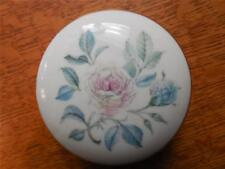 Wedgwood Mist Rose bone china small fluted box - EXCELLENT!!