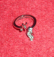 CHILDRENS INITIAL LETTER N ADJUSTABLE SILVER TONE COSTUME JEWELRY RING