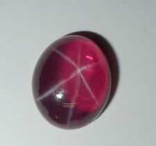 Transparent Star Ruby Oval 12x10 mm Flat Cabochon 6 Rayed Lab-created Stone