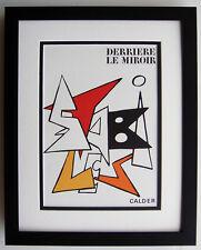 "ALEXANDER CALDER ORIGINAL 1963 Color Lithograph ""Derriere Le Miroir"" Framed COA"