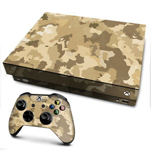 Xbox One X Console Skins Decal Wrap ONLY Brown Desert Camo camouflage