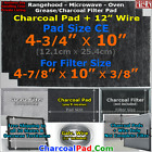 For Whirlpool 4359331 Microwave Oven Range Hood Grease Charcoal Carbon Filter CE photo