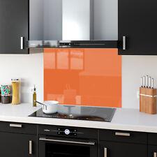 Shades of Orange Toughened Glass Kitchen Splashback Panels Any Size & Colour
