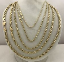 """Real 14k Gold Filled Diamond Cut Twisted French Rope Solid Chain Necklace LL 24"""""""