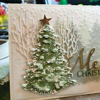 DIY Christmas Tree Metal Cutting Dies Scrapbooking Paper Cards Craft Stencil HOT