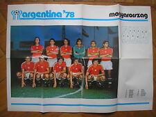 ARGENTINA 78 ALBUM COGED POSTER MAGYARORSZAG UNGHERIA WORLD CUP 1978 FOOTBALL