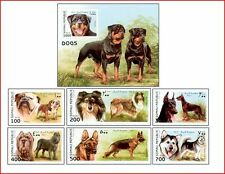 SOM9703 Dogs 6 stamps and block