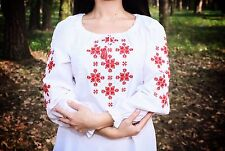 Ukrainian embroidered sorochka, blouse, vyshyvanka, embroidery, Size XL