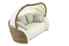 Sonneninsel Luxor Lounge Small mixed beige Gartenliege Sonnenliege Yachtleder