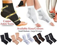 Copper Infused Compression Socks Planter Fasciitis Ankle Support Pain Relief