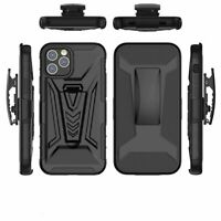 For iPhone 12 Mini Pro Max Heavy Duty Hybrid Armor Holster Belt Clip Case Cover