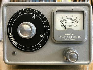 Morrow CM-1 Conelrad Monitor Radio Receiver works well