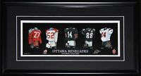 Ottawa Renegades CFL Football Jersey Evolution CFL Football Collector Frame