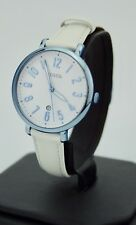 Women's Fossil Watch, Jacqueline Three Hand White Leather Strap Watch ES4203,New