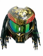 Gold  Custom Predator Motorcycle Helmet