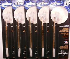 5 - FISHER SPACE Bullet Ballpoint Pen Refills - Black Medium Point - USA MADE