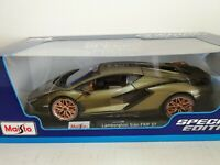 LAMBORGHINI SIAN FKP 37 1/18 SCALE MAISTO SPECIAL EDITION - GREEN NEW In Box