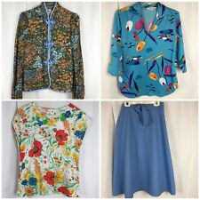 Vtg 60s Women's M L Mod Polyester Tops Skirt Includes Laura Mae & Arpeja Jacket
