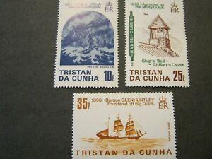 TRISTAN DA CUNHA 1985 SHIPWRECKS SET of 3 STAMPS SG 386-8 MINT NEVER HINGED