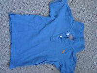 H&M Poloshirt T-Shirt blau Gr. 86