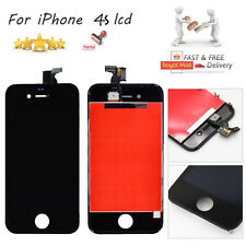 For iPhone 4S Black LCD Display Touch Screen Glass Digitizer Lens Replacement UK