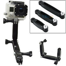 Extension Arm Grip Pole Mount Set Helmet Accessory Set for Gopro Hero 4 3+ 3 2 1