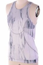 $100 Adidas By Stella McCartney Run Print Tank Built In Bra Ice Grey Women's L