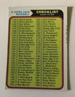 1974 2nd Series Checklist # 263 Topps Baseball Card