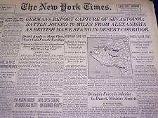 1942 JULY 2 NEW YORK TIMES - GERMANS REPORT CAPTURE OF SEVASTOPOL - NT 1203