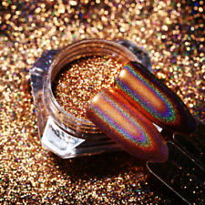 0.5g Holographic Nail Glitter Powder Champagne Rose Gold Mirror Dust Born Pretty