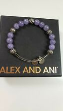 ALEX AND ANI Mulberry Crystal Beaded Bangle