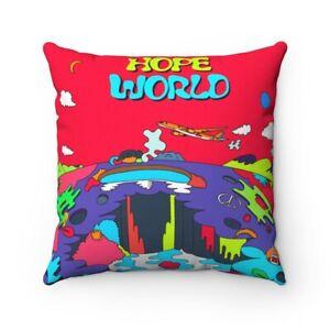 J HOPE HOPE WORLD Spun Polyester Square Pillow