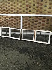 More details for job lot of four small reclaimed leaded light panel wooden windows