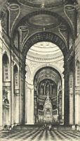 Grant Edwards - Early 20th Century Etching, Brompton Oratory