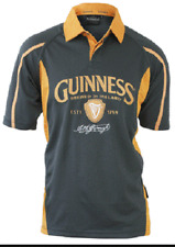 Guinness Charcoal/Mustard Rugby Jersey
