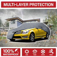 Motor Trend Full Indoor Outdoor Car Cover Waterproof UV Rain Dust Protection
