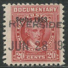 U.S. Revenue Documentary stamp scott r627 - 20 cent issue of 1953 - #2