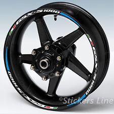 Adesivi cerchi moto SUZUKI GSXS 1000 RAC.2 strisce ruote profili gsx-s gsx s
