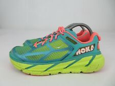 Hoka One One Clifton 1 Neon Aqua Coral Athletic Running Shoes Womens Size 9