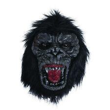 Black Gorilla Mask Ferocious Halloween Mask Adult Mens Fancy Dress New