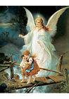 Guardian Angel II by Lindberg Heilige Schutzengel (Art Print of Vintage Art)