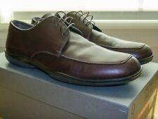 PRADA leather lace up dress shoes w/ sport soles brown sz 9 (Men's US 10) 4E1217
