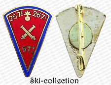 Insigne 57°Régiment Artillerie, Amicale 57°-257° & 267°. Email, Mourgeon. 26 mm