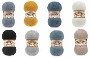 Alize Angora Gold Plain 100g Ball 11 Variations