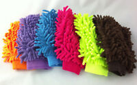 Double Sided Mitt Microfiber Car Dust Washing Cleaning Glove Towel Soft AUC