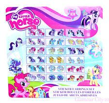 My Little Pony Orecchini ADESIVI Ragazze Festa Di Compleanno Regalo Borsa Filler presente