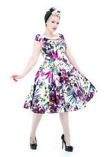 Años 50 Rockabilly Pinup Retro Floral de Verano para mujeres estilo vintage señoras Vestido de swing